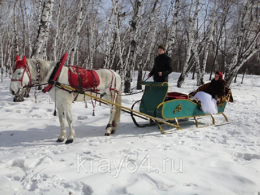 Катание в санях на лошади
