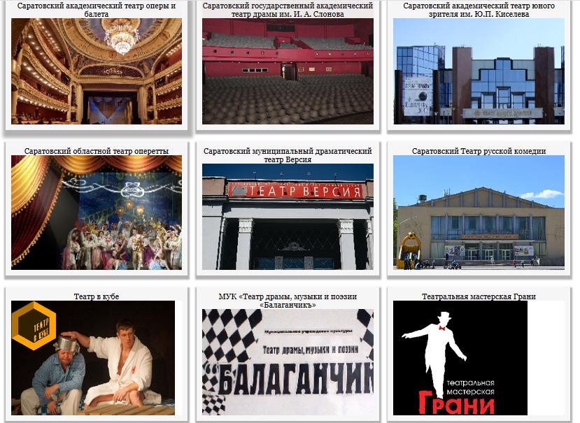 Театры и музыкальные учреждения