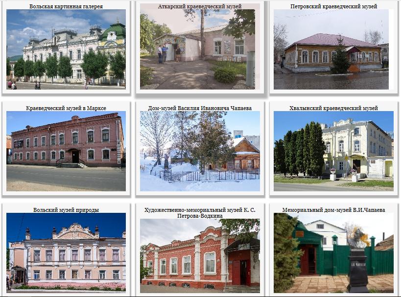 Областные музеи и учреждения культуры