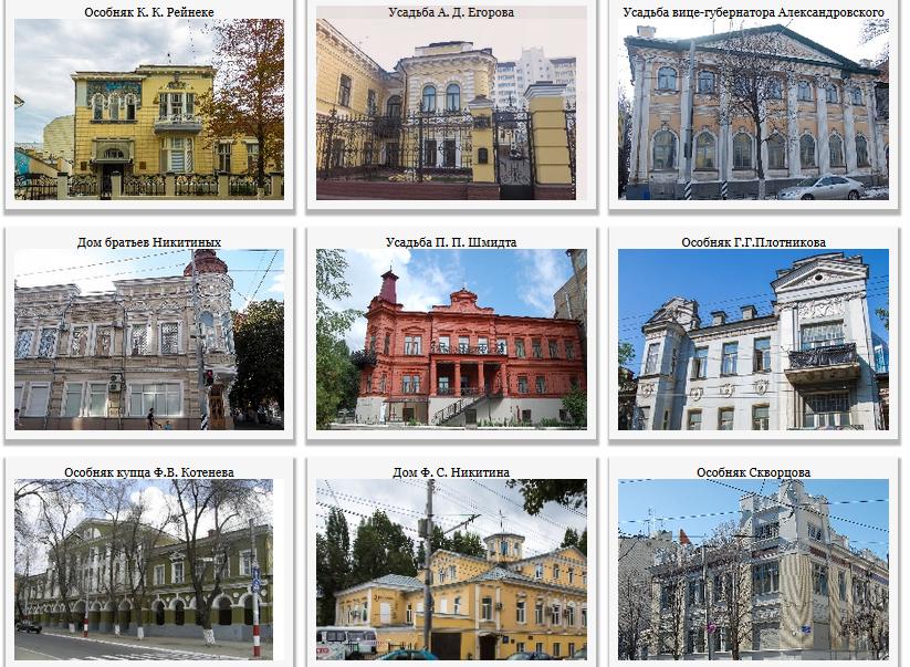 Бывшие жилые здания, особняки и усадьбы