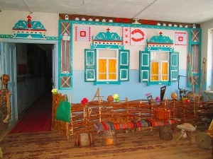Чувашское изба, подворье и музей лаптя