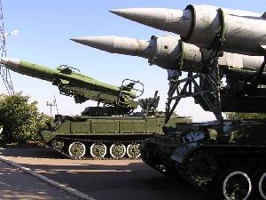 Экспозиция ракетных комплексов сухопутных войск