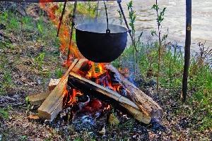 Отдых с палатками под Саратовом