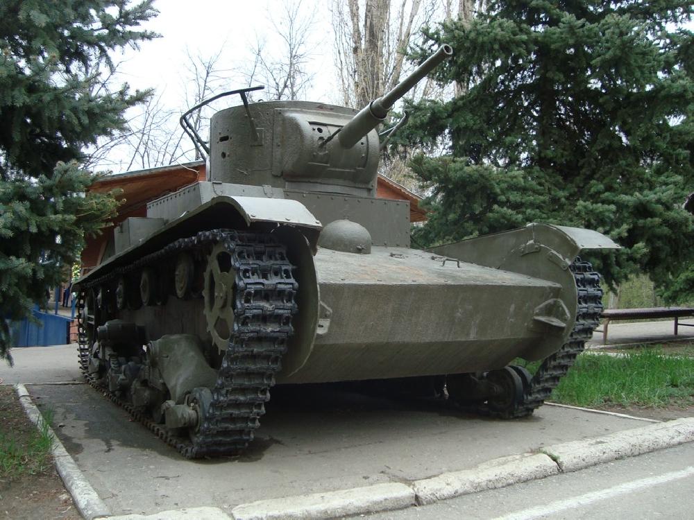 Легкий танк Т-26. Макет