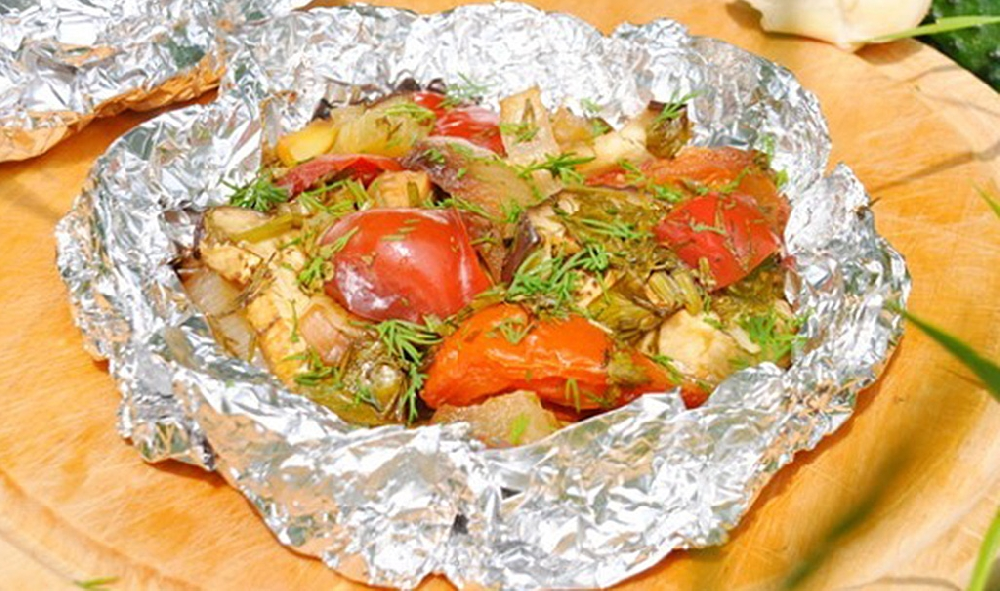 Овощи в фольге по-китайски