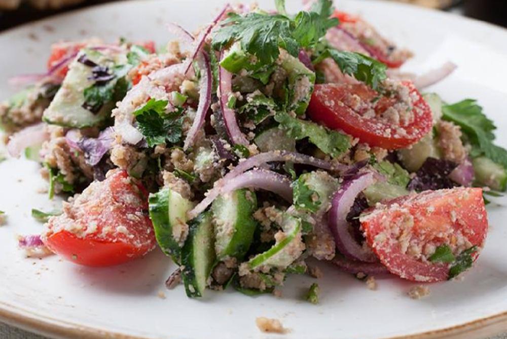 «Глехурад» грузинский салат с ореховой заправкой