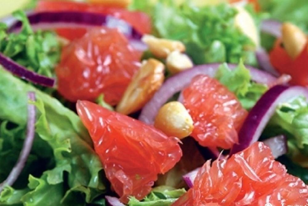 Салат с грейпфрутом и капустой