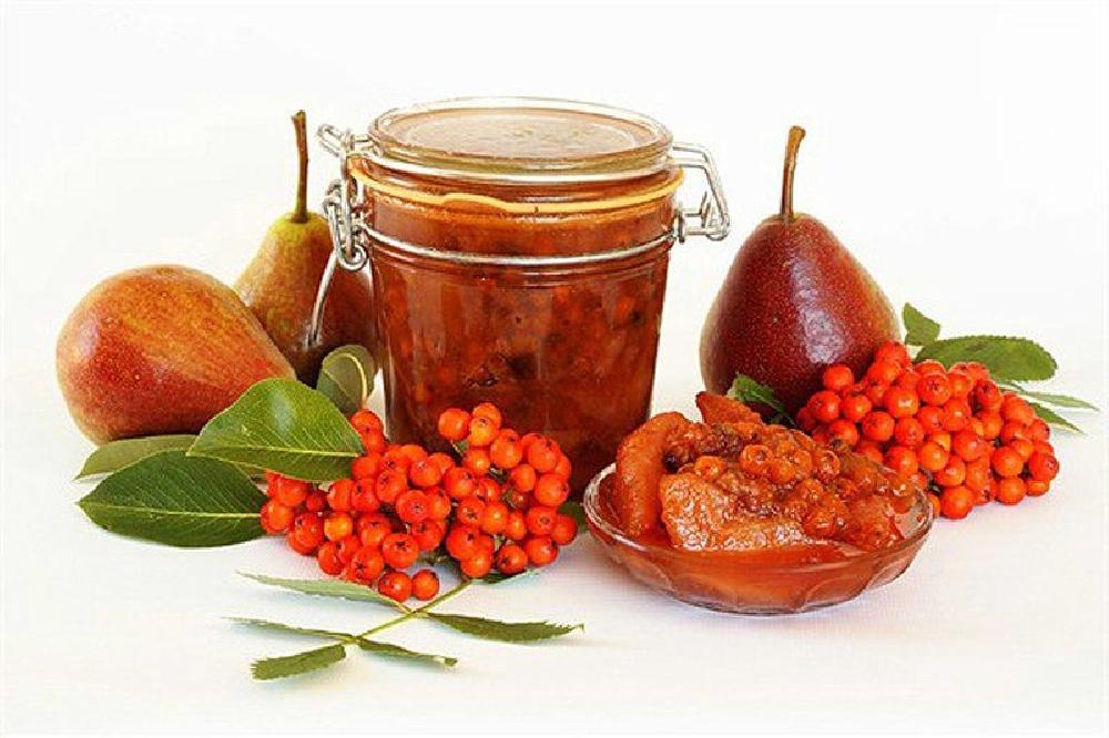 Варенье из рябины с яблоками или грушами