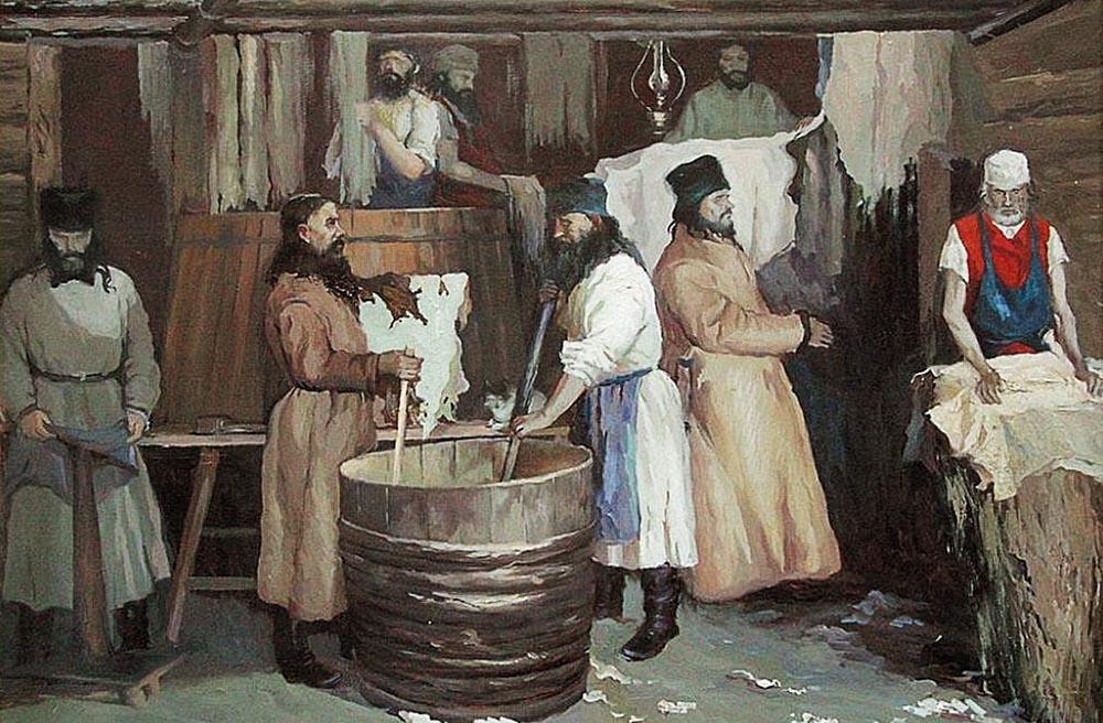 Распространение кожевенного промысла в Саратовской губернии