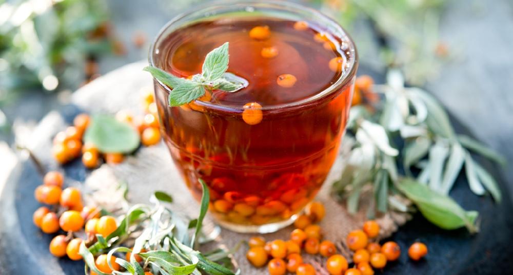 Ферментированный чай из листьев облепихи