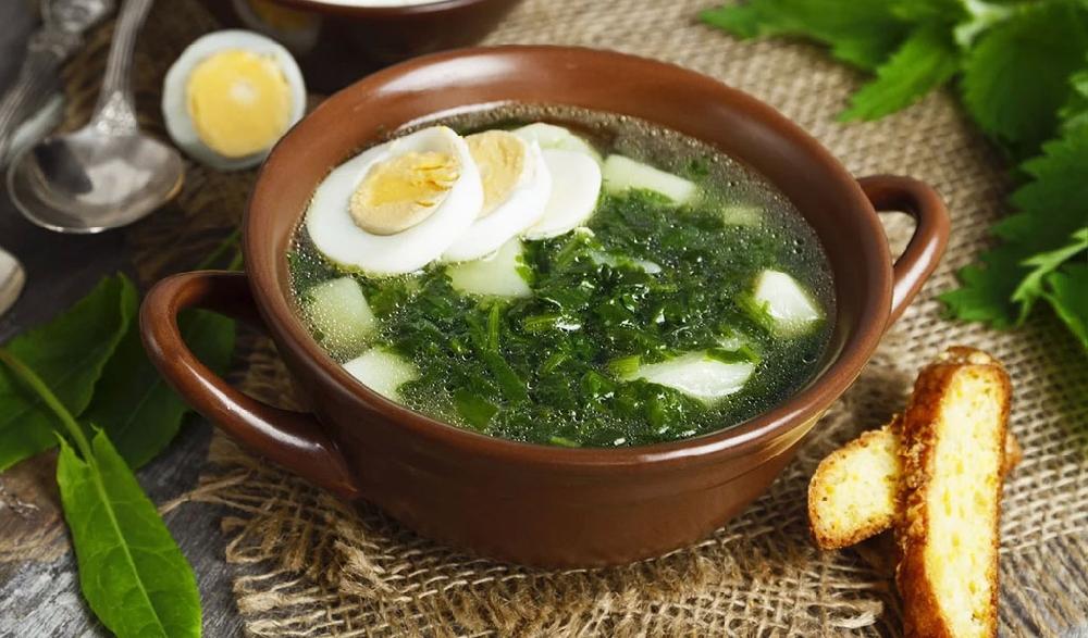 Овощной суп со снытью
