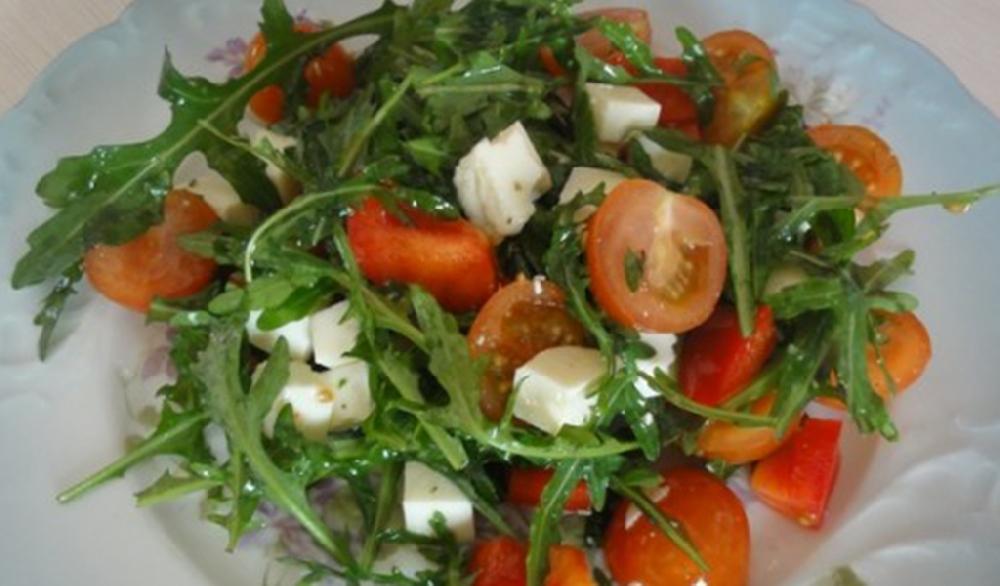 Овощные салаты с сурепкой
