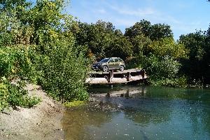 Металлический мост через Медведицу между Щербиновкой и с. Приречное