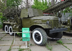 Боевая машина реактивной артиллерии БМ-24 на базе автомобиля ЗИЛ-151