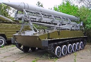 Самоходная пусковая установка 2П16 тактического ракетного комплекса 2К6 «Луна»