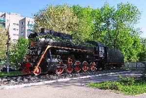 Паровоз Л-3733 в сквере железнодорожников, 17.05.2021
