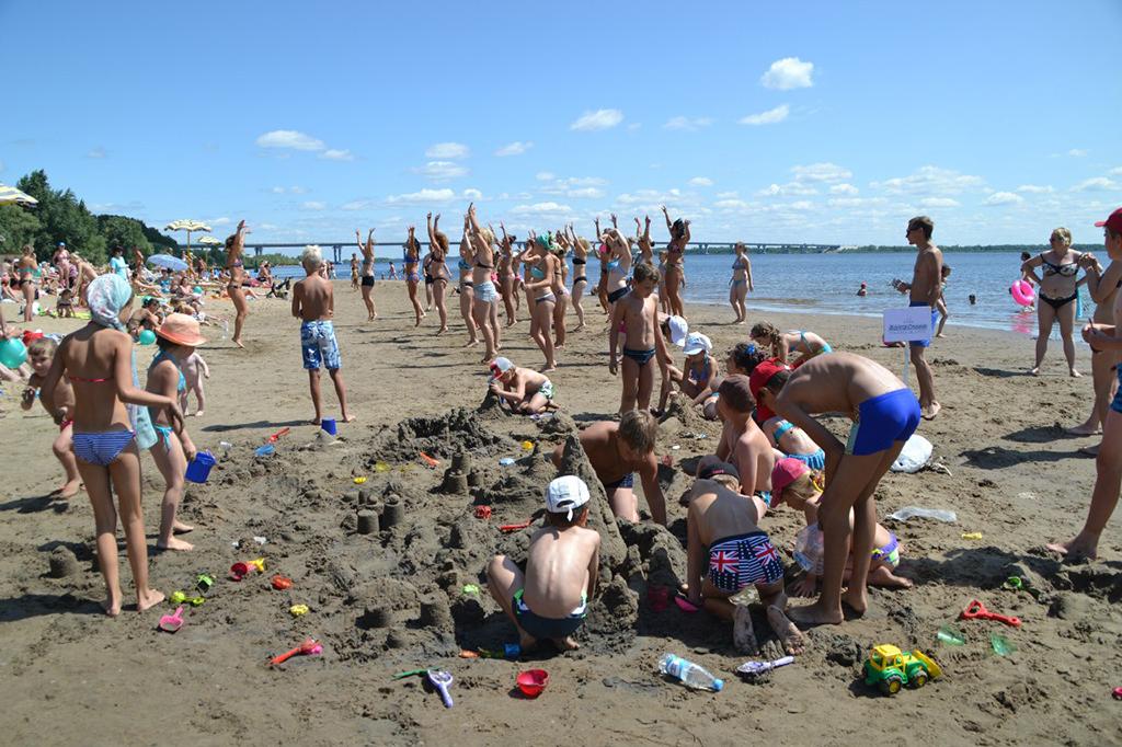 Пляж санатория «Волжские Дали»