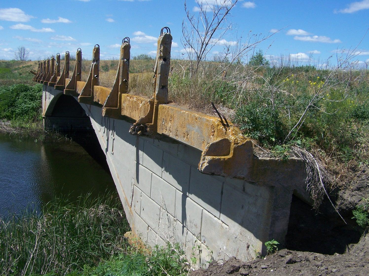 Заброшенный мост на речке Мордова