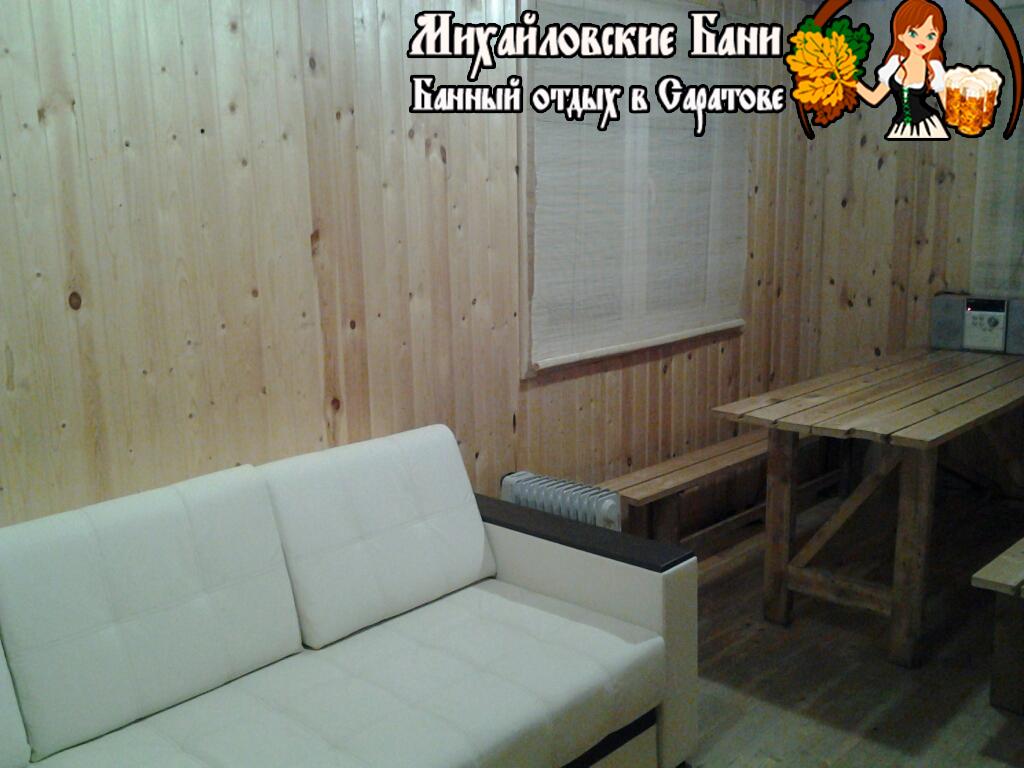Михайловские бани Дровяная баня на пантоне