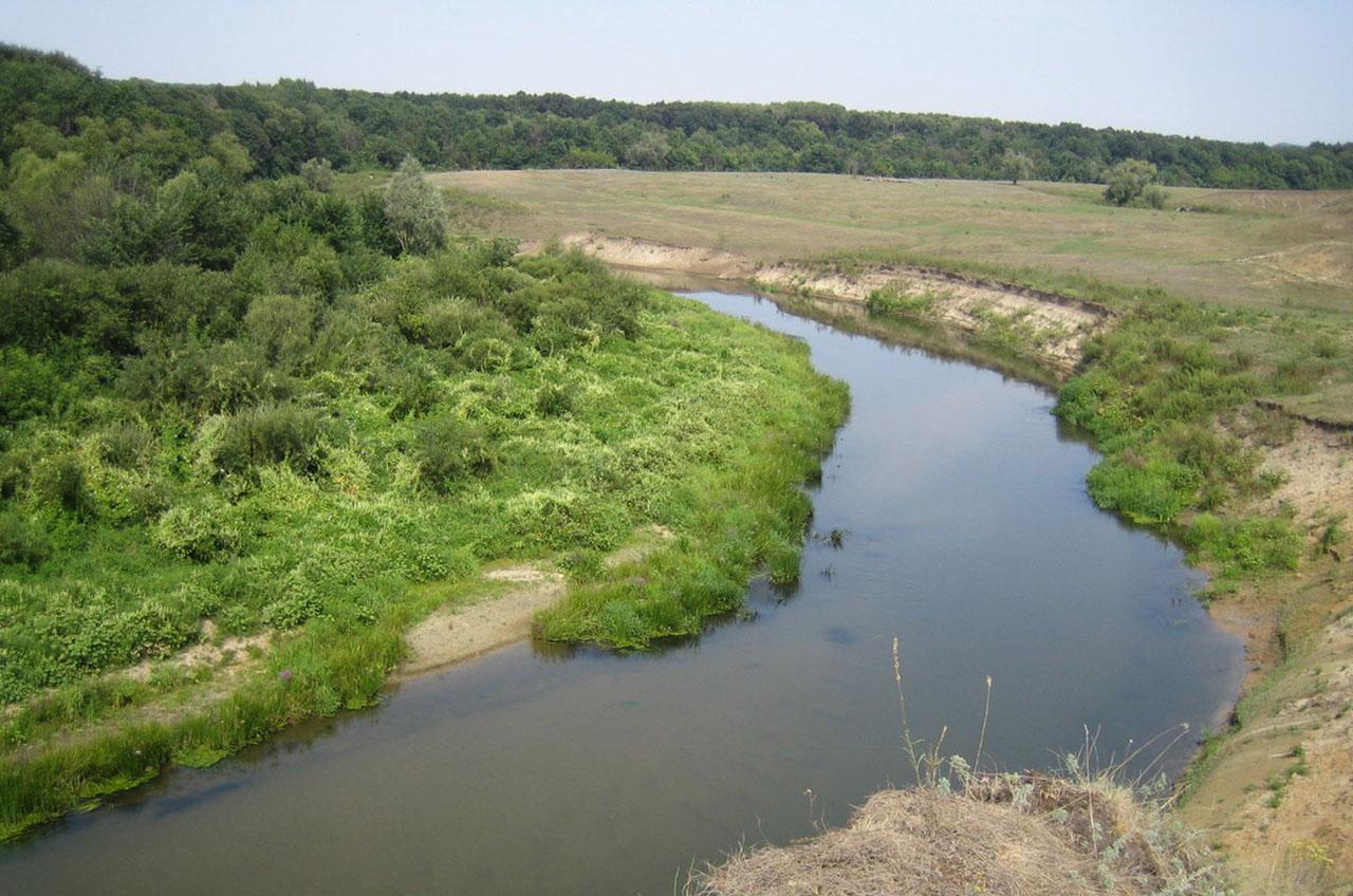 Район впадения в Медведицу реки Идолга