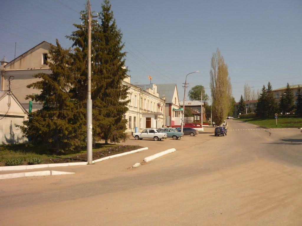Здание железнодорожного вокзала станции Карабулак