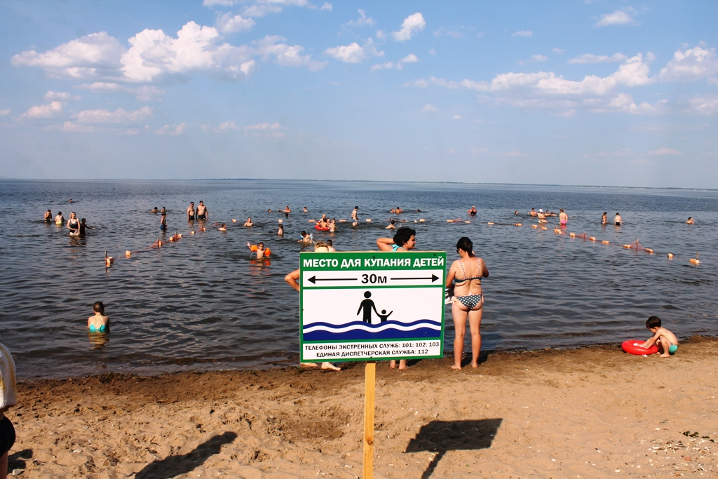 Городской пляж в Хвалынске