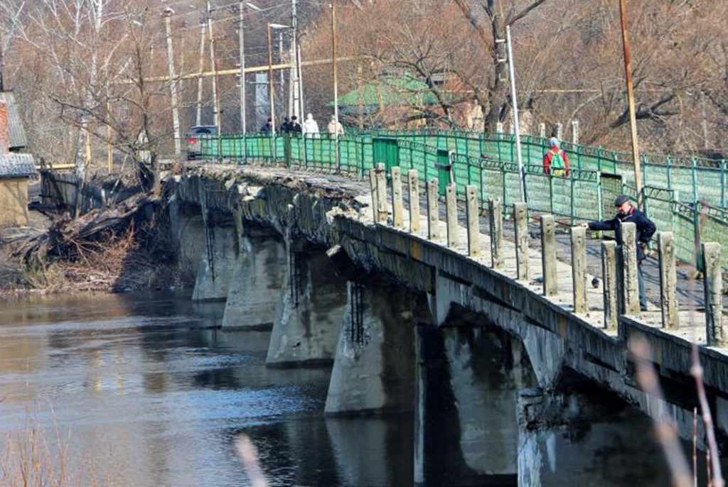 Пешеходный мост через Хопер