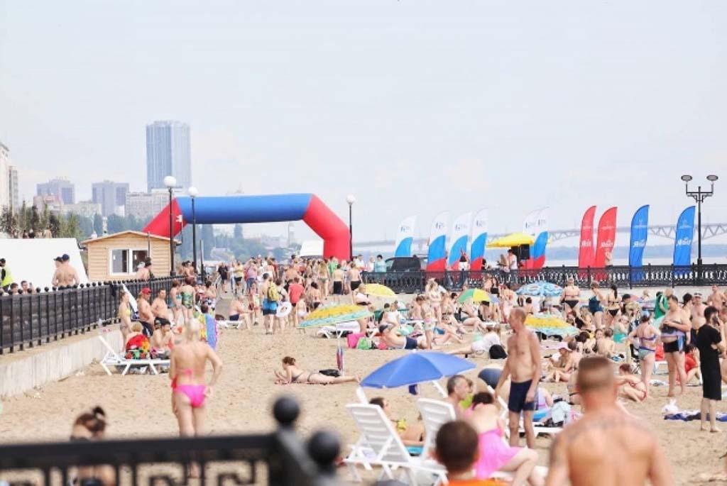 Новый саратовский пляж