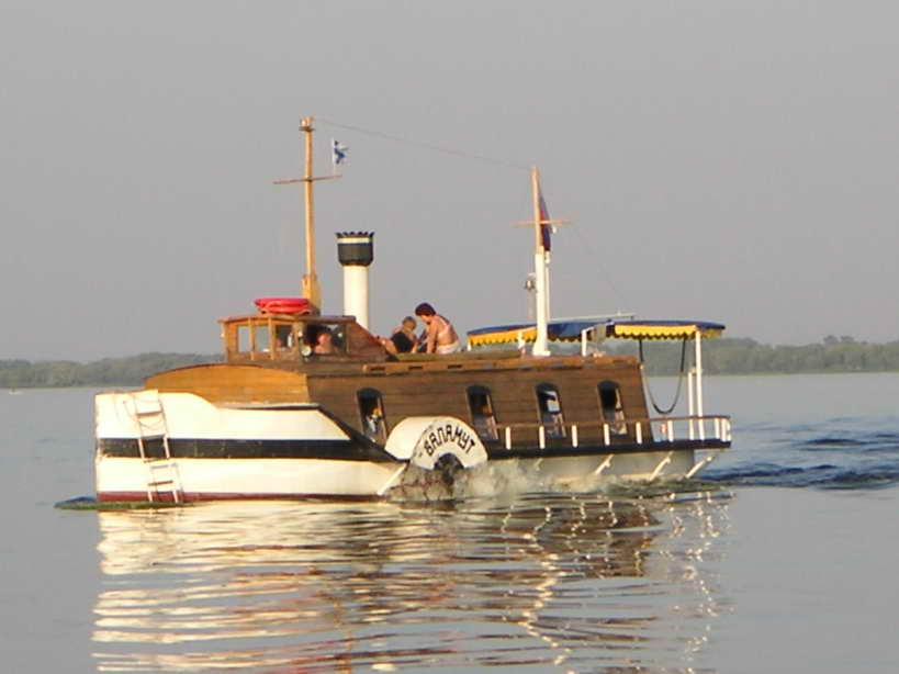 Колесный пароход Баламут