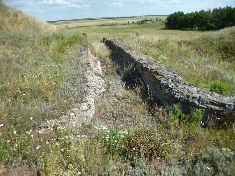 Остатки строительства железной дороги Саратов-Миллеровка