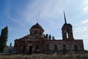 Б. Екатериновка. Развалины церкви.